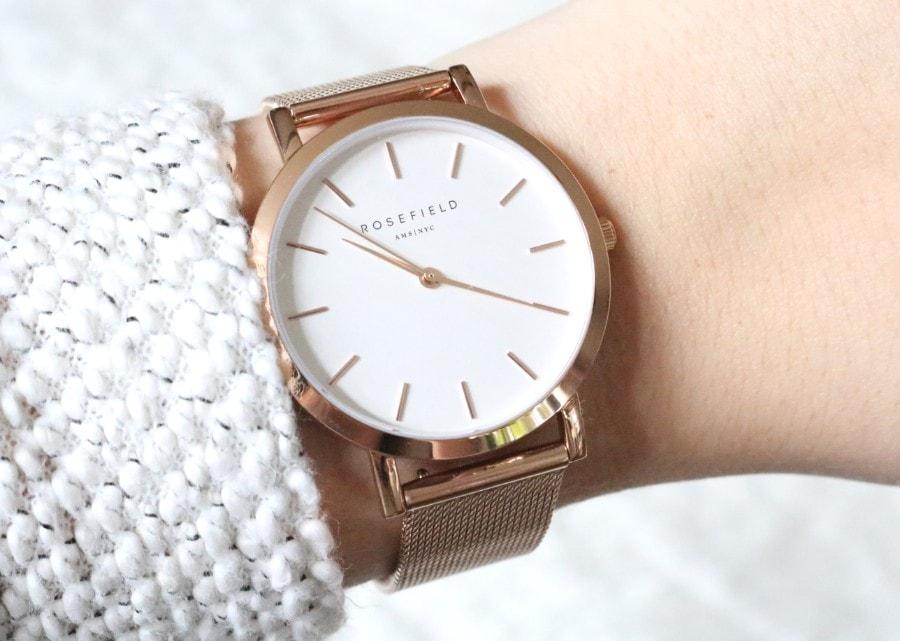 Rosefield horloge rose for The mercer